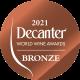 Vino je osvojilo broncu na ocjenjivanju Decantera za 2021 godinu