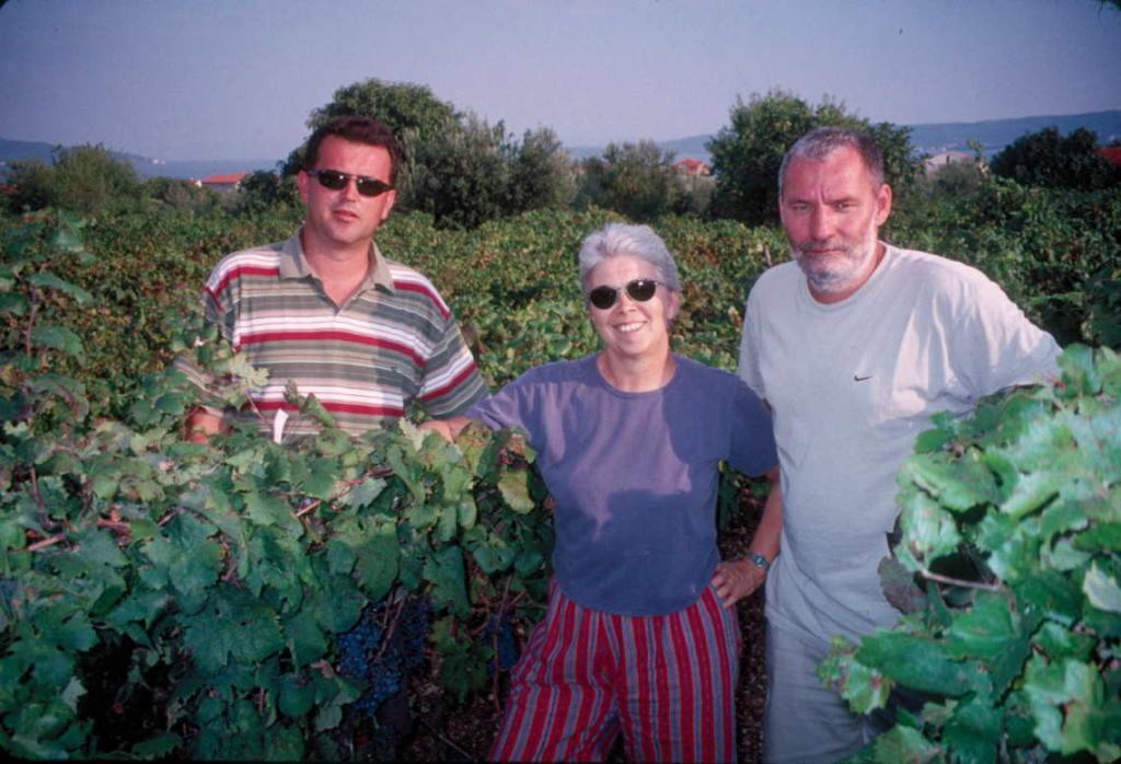 Carole Meredith, profesor s University of California s Ivanom Pejićem i Edijem Maletićem, profesorima Agronomskog fakulteta u Zagrebu
