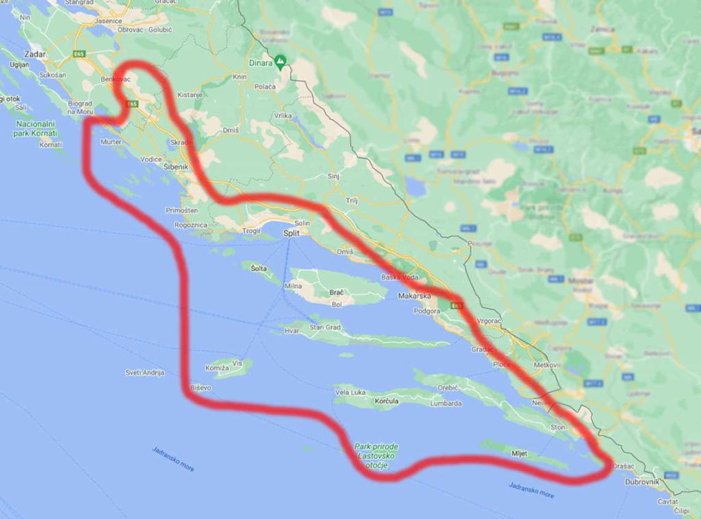 Vinova loza za prošek uzgaja se na području Dalmacije
